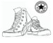 Highly Detailed Converse Coloring Pages