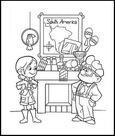 Ellie from up character coloring page