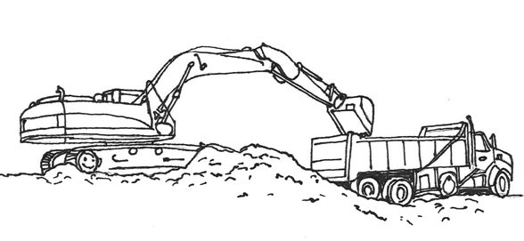 road construction equipment coloring pages - photo#44