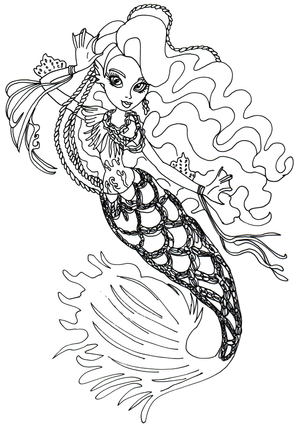 Fusion Sirena Von Boo From Monster High Coloring Pages