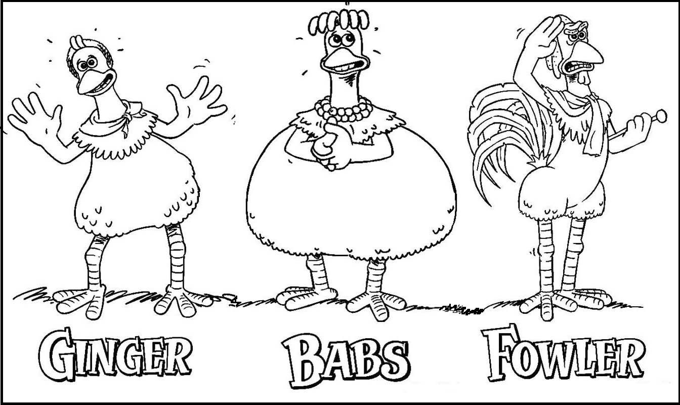 Ginger Babs Fowler from Chicken Run Coloring Pages