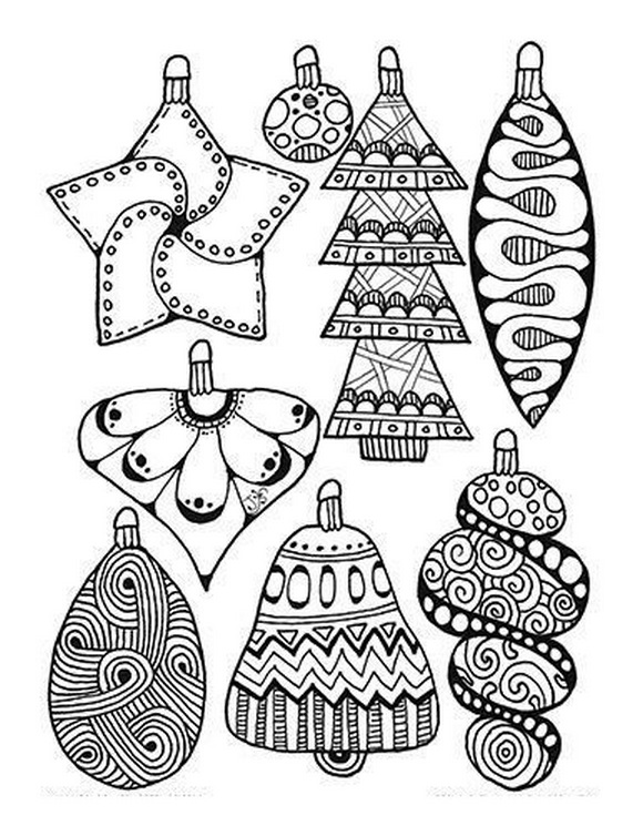 Graceful Christmas Ornaments Coloring Books