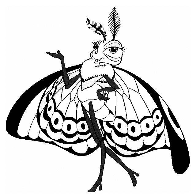 Gypsy from a bugs life coloring page