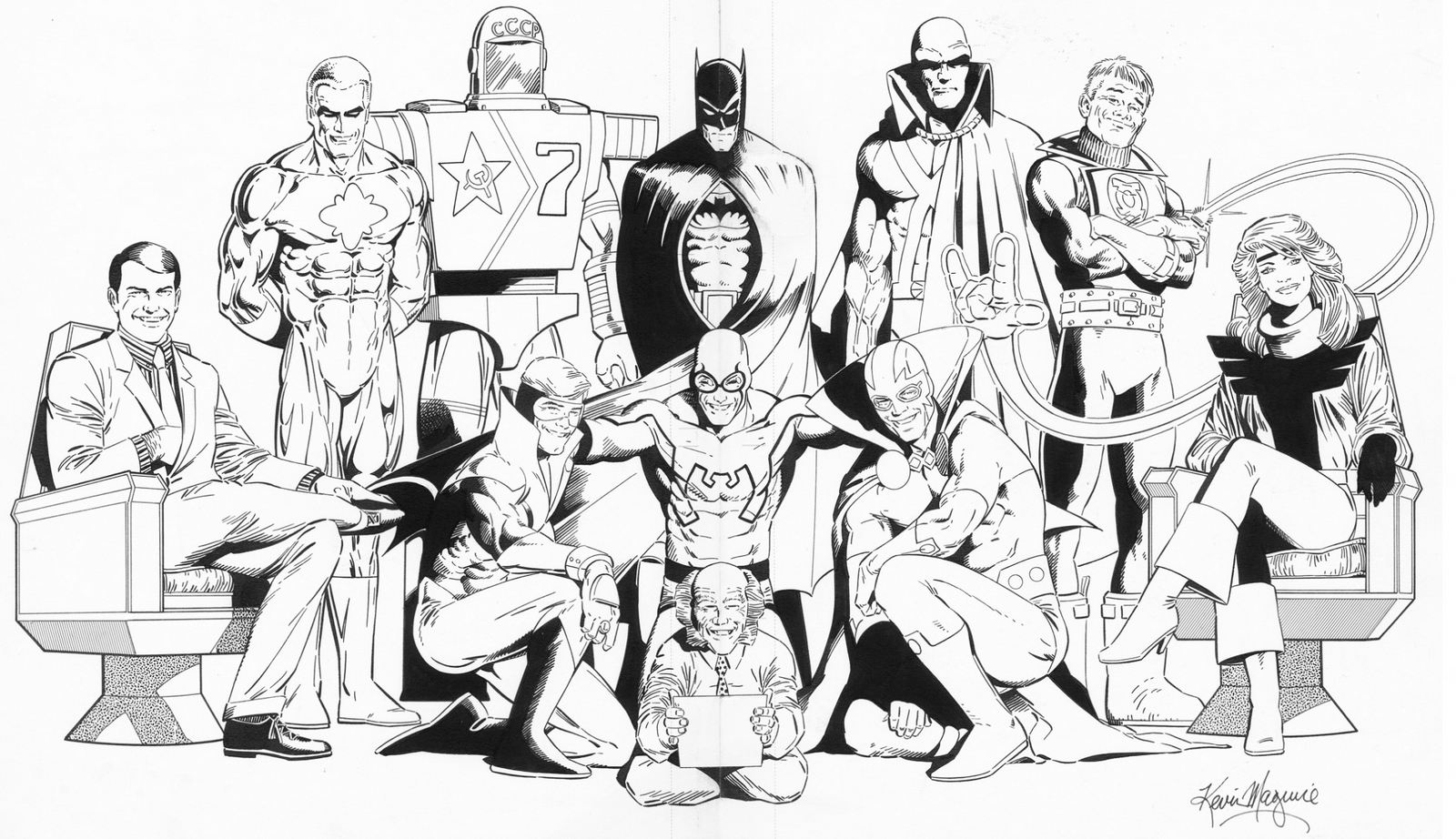Justice League Coloring Book Design