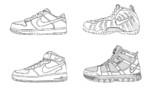 Nike Shoes Coloring and Sketch Drawing Pages