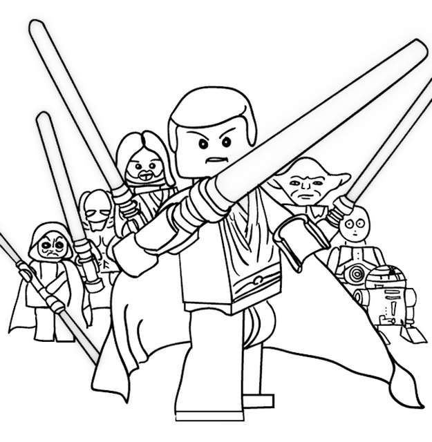 Lego Star Wars Coloring And Drawing