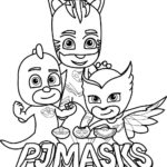 Pj Masks Team Coloring Page