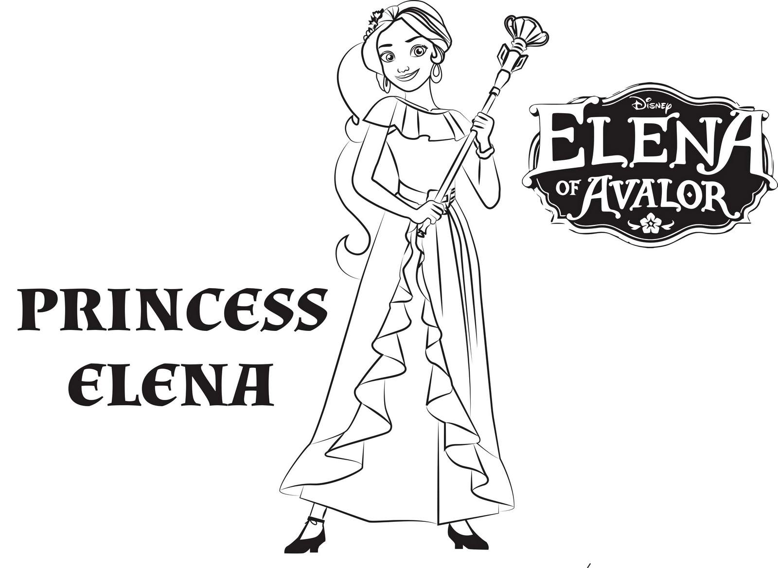 Princess Elena From Elena Of Avalor Coloring Pages