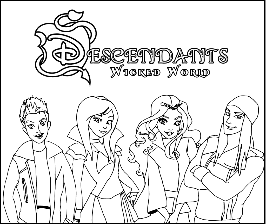 Printable Descendants Wicked World Coloring Page