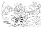 Maya the Bee Buzzes Coloring Pages