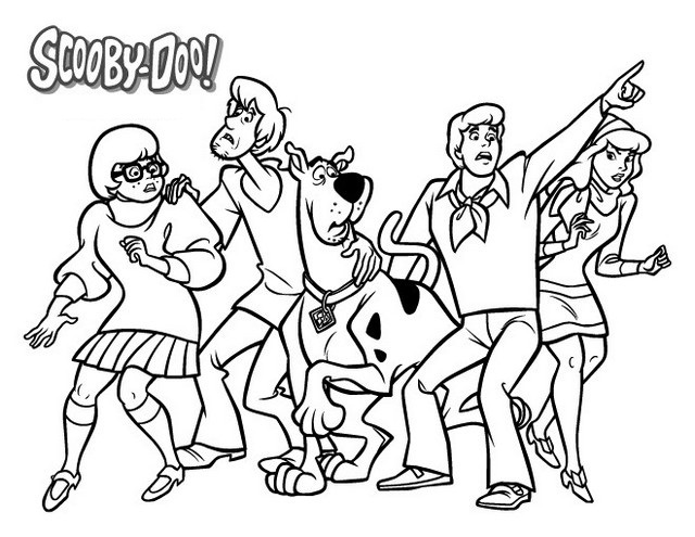 Scooby Doo Team Coloring Pages