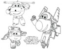 Super Wings Transforming Coloring Pages