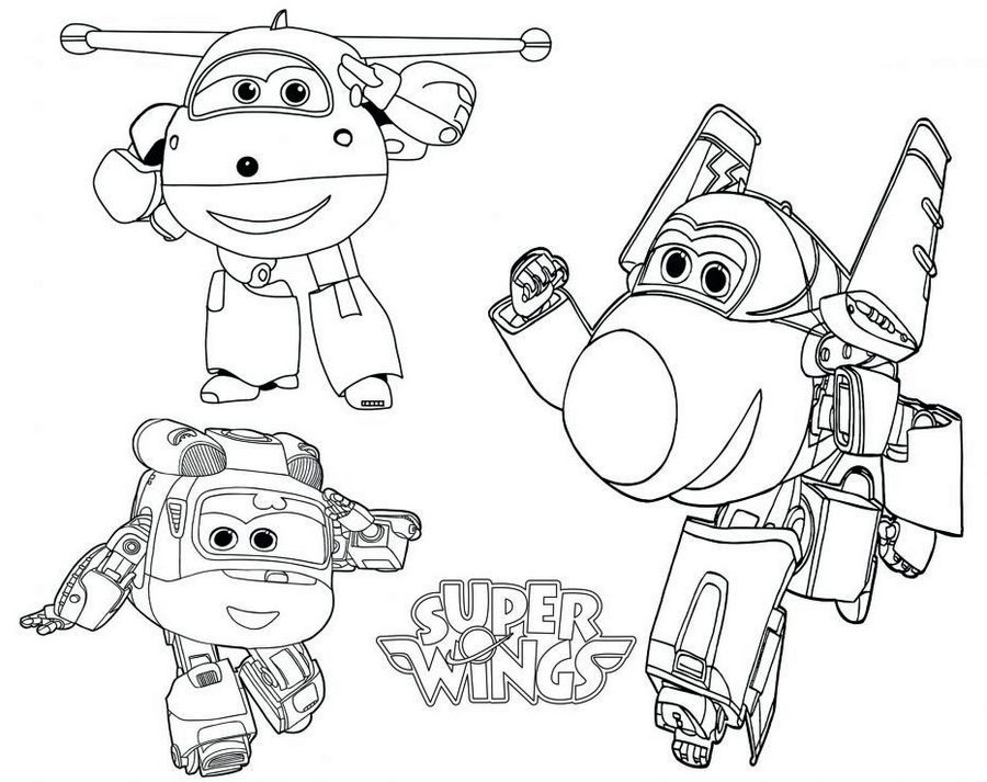 Super Wings Coloring Books