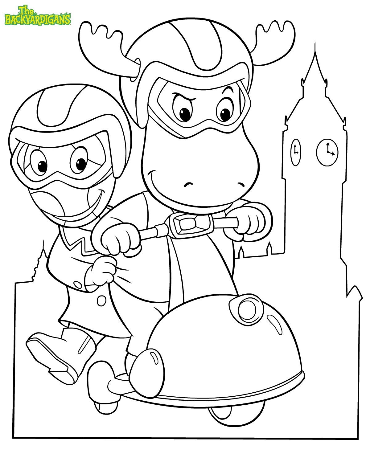 The Backyardigans Colouring Pages To Print