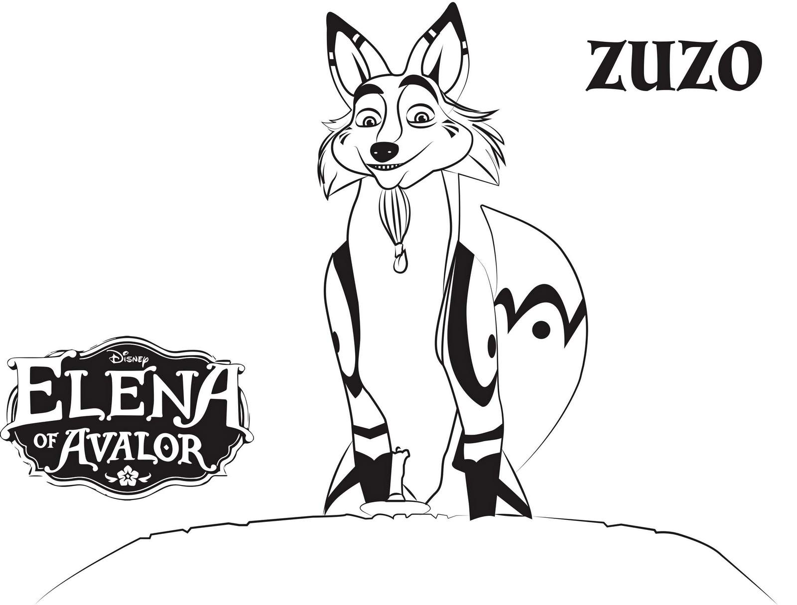 Zuzo From Elena Of Avalor Coloring Sheets
