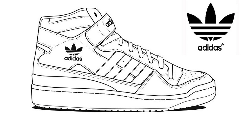 Adidas Sketch Outline Coloring And Drawing