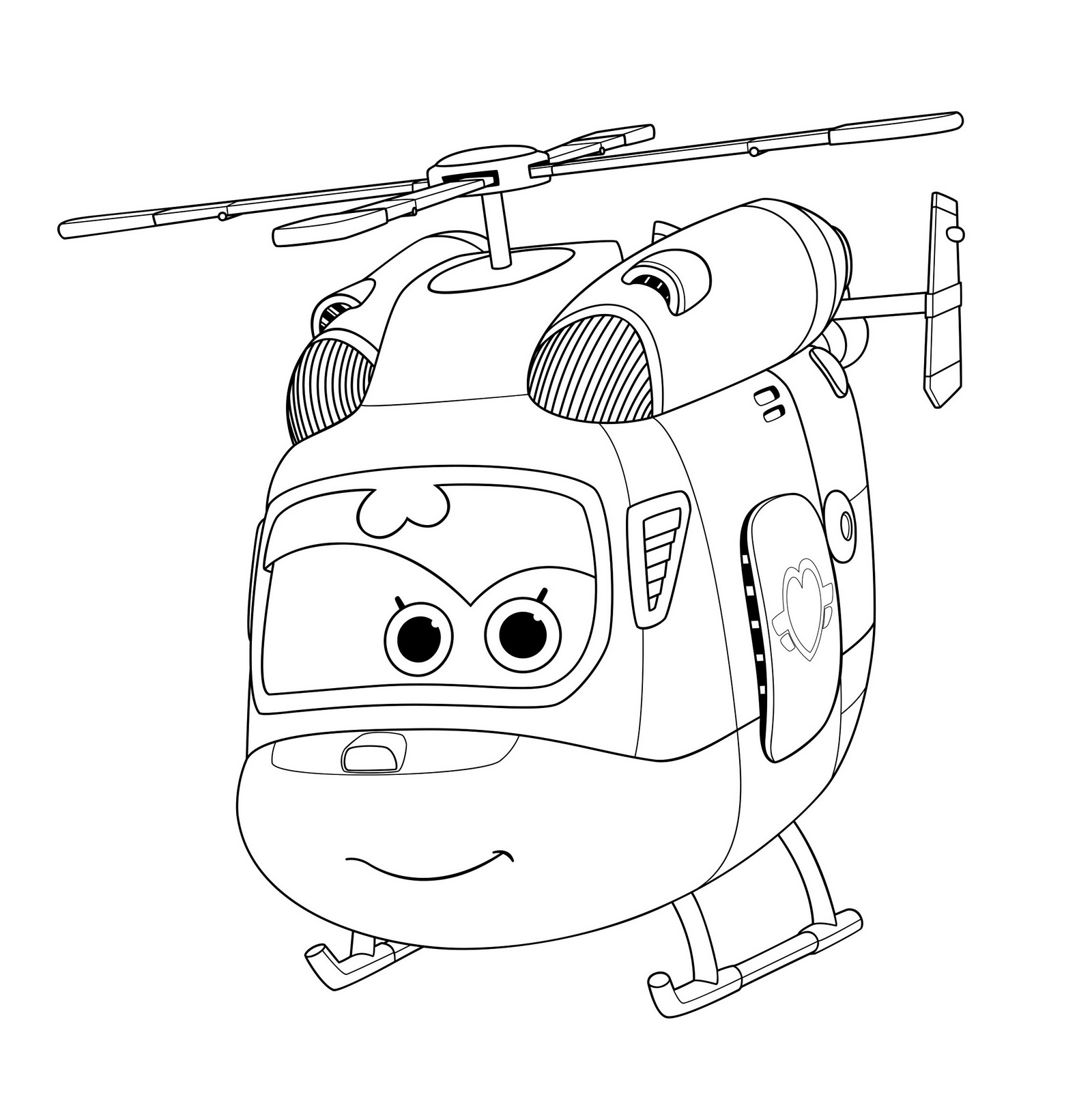 Auldey Super Wings Dizzy Coloring Page