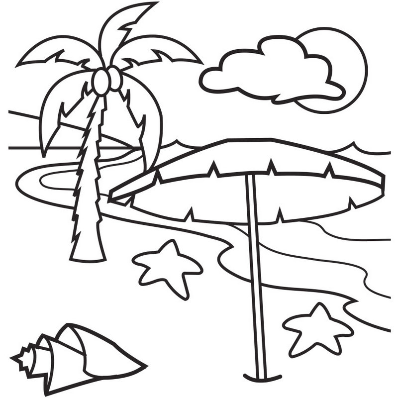 Swaying Palm Tree Coloring Page  Coloring Pages
