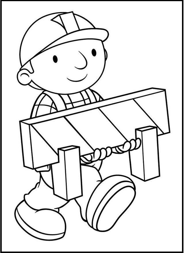 bob the builder building coloring sheet