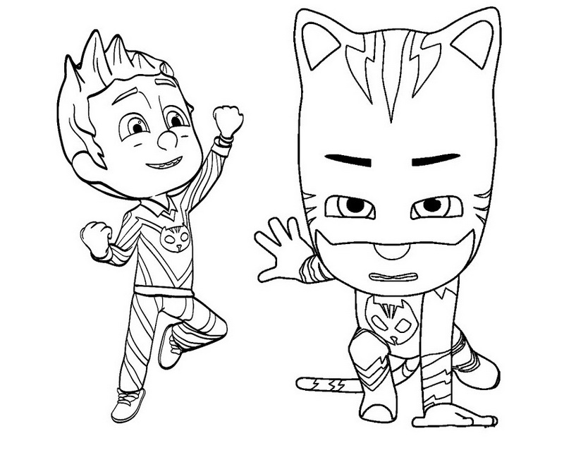Catboy And Romeo Pj Mask Coloring And Drawing