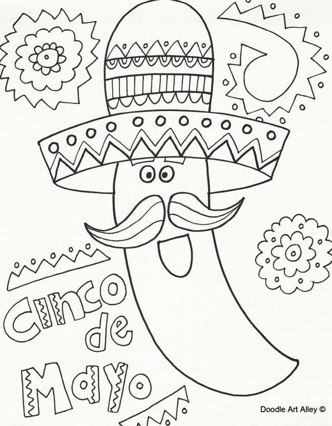 Cinco De Mayo Celebration Coloring Activity Doodle