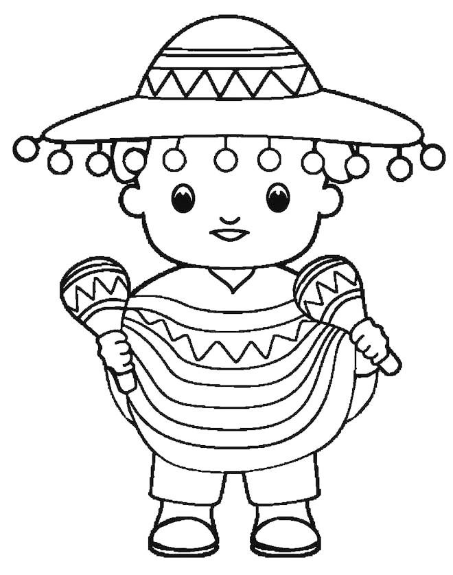 Cinco De Mayo The Fifth Of May Coloring Page