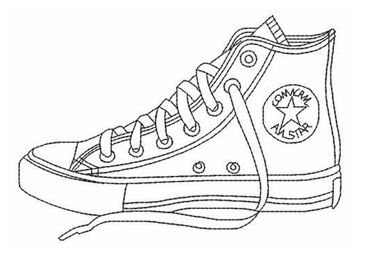 Converse All Star Coloring Page Shoes