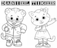 Printable Daniel Tiger Coloring Page