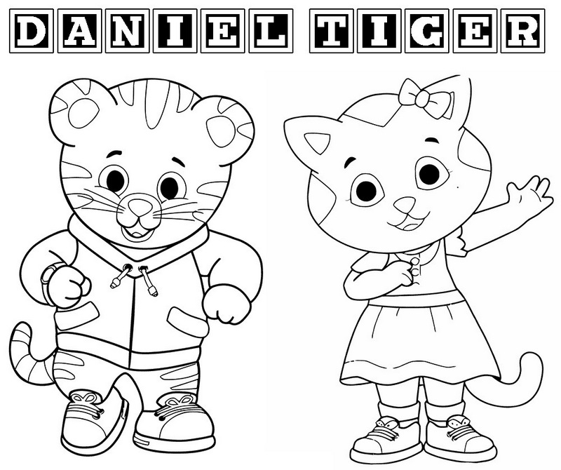 daniel tiger main character coloring pages