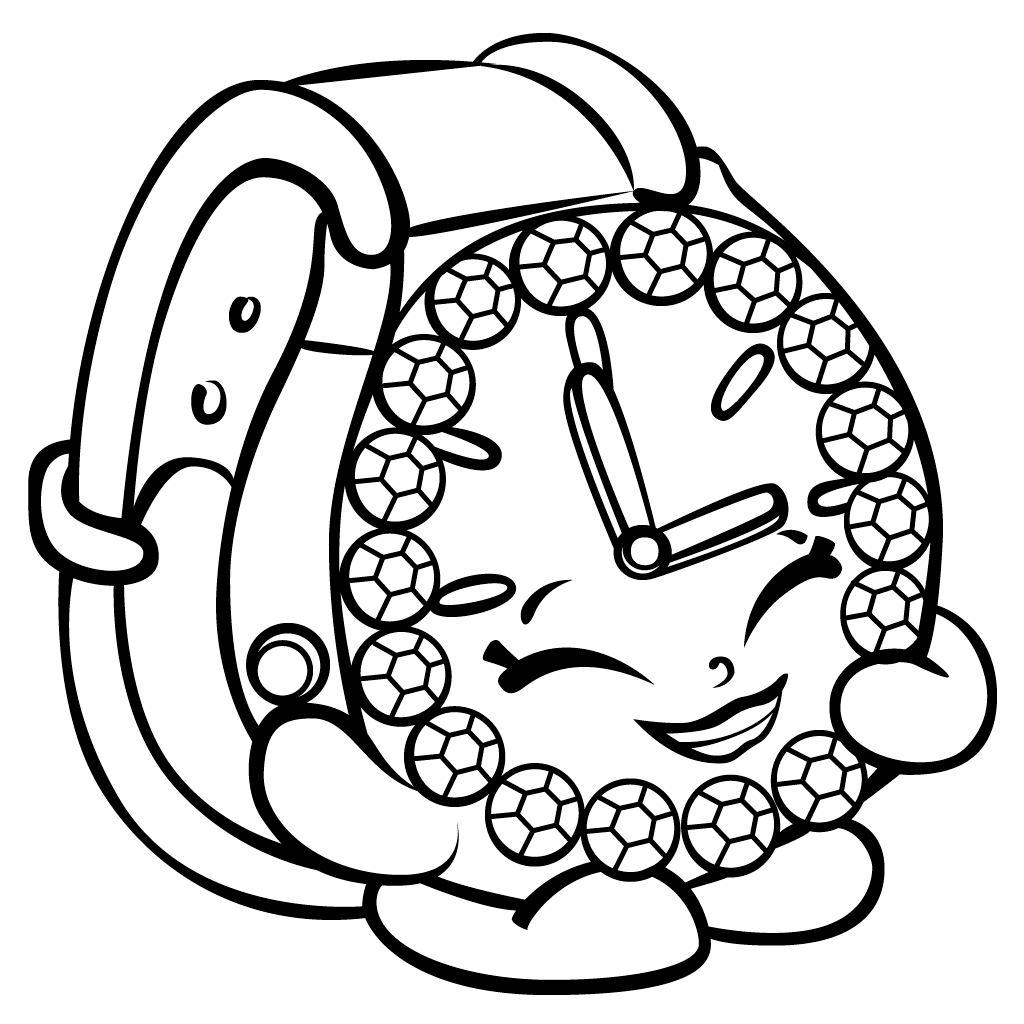Decorative Clock Shopkins Coloring Sheets For Kids