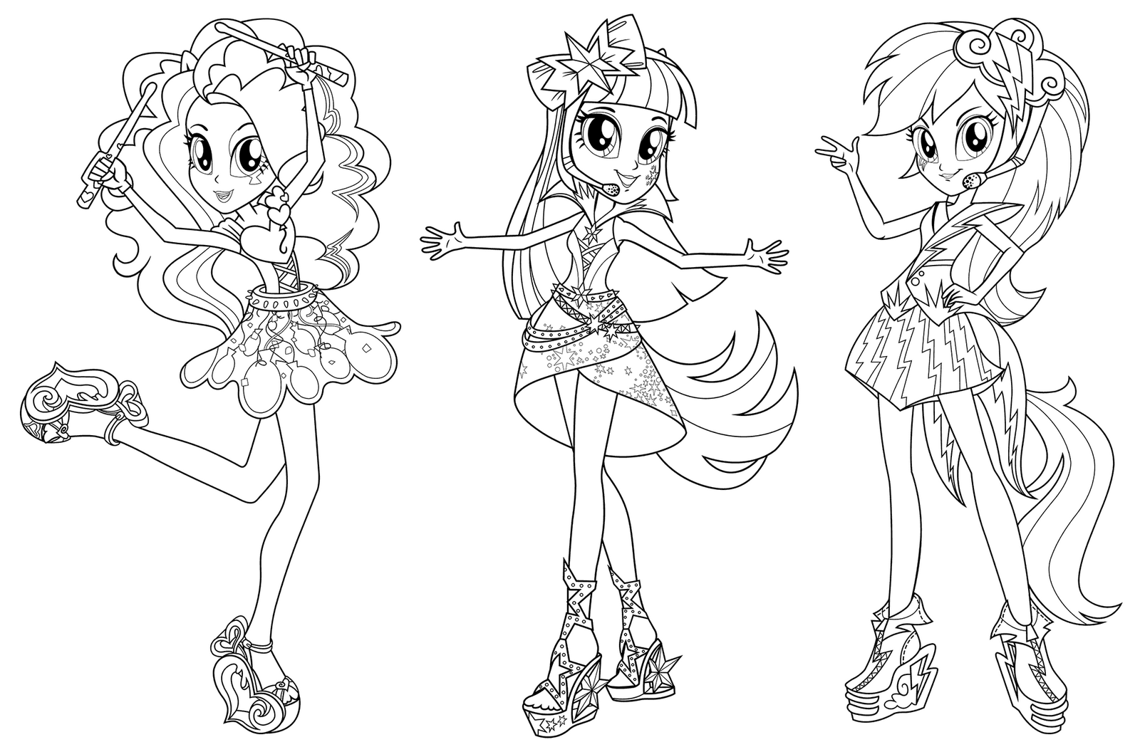 Equestrian Girl Character Coloring Pages