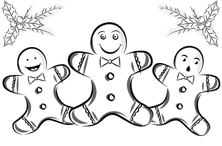 Gingerbread Man Coloring Page Christmas Activities For Kids