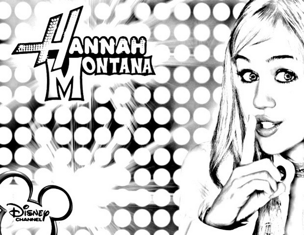 Hannah Montana Coloring Disney