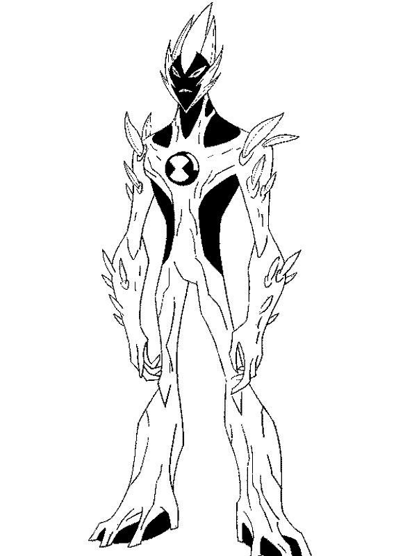 Heatblast From Ben 10 Coloring Pages