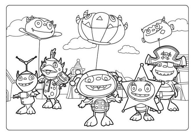 Henry Hugglemonster Disney Junior Coloring Pages
