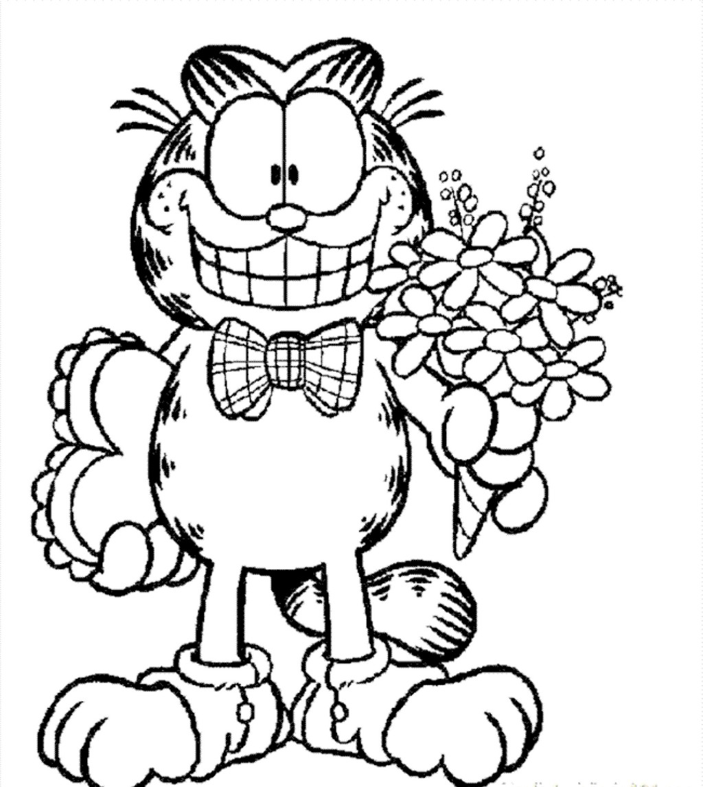 Highly Detailed Garfield Coloring Pages For Kids