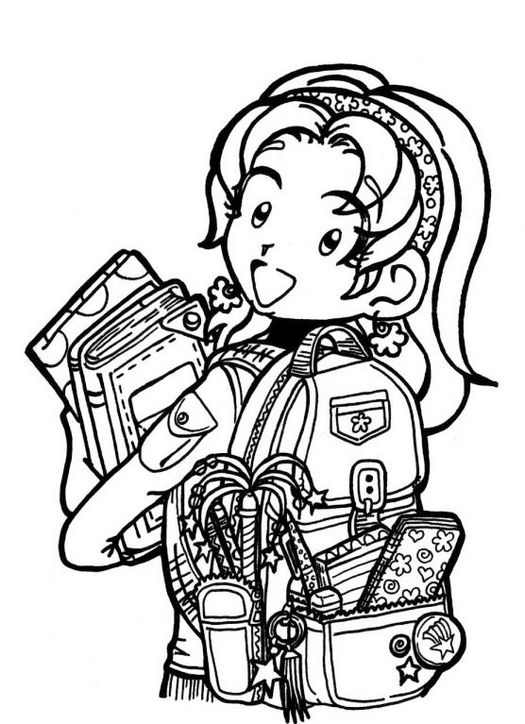 Humorous Children Dork Diaries Coloring Page