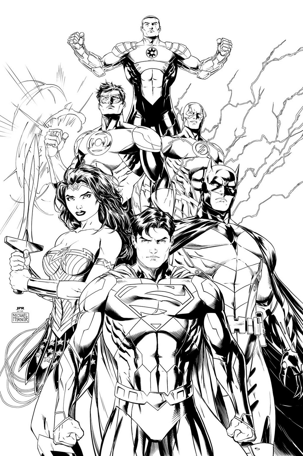 Justice League Coloring and Sketch Drawing Pages - Coloring Pages