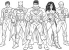 Justice League Coloring and Sketch Drawing Pages