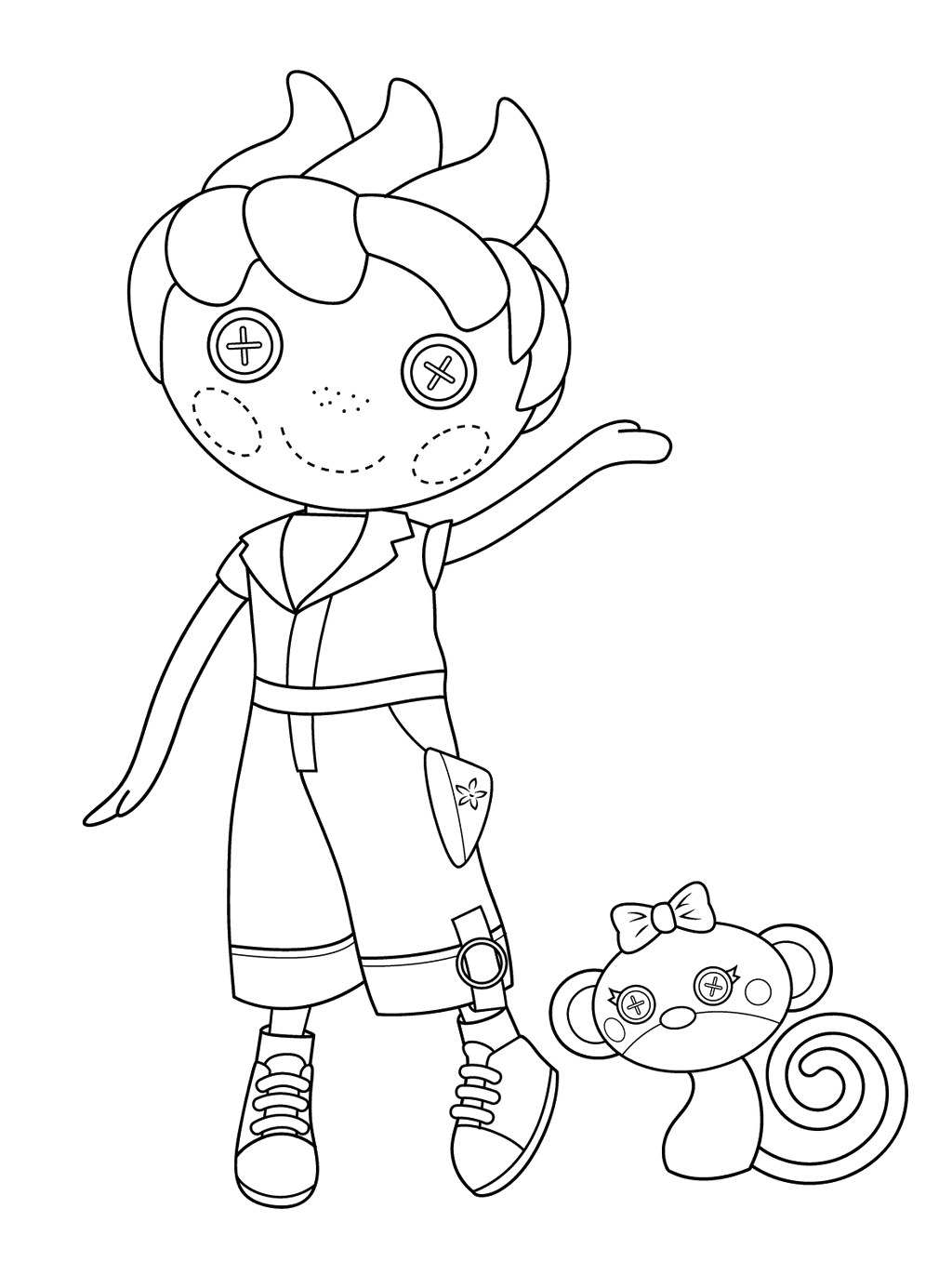 Lalaloopsy and Pet Pals Coloring Pages Coloring Pages