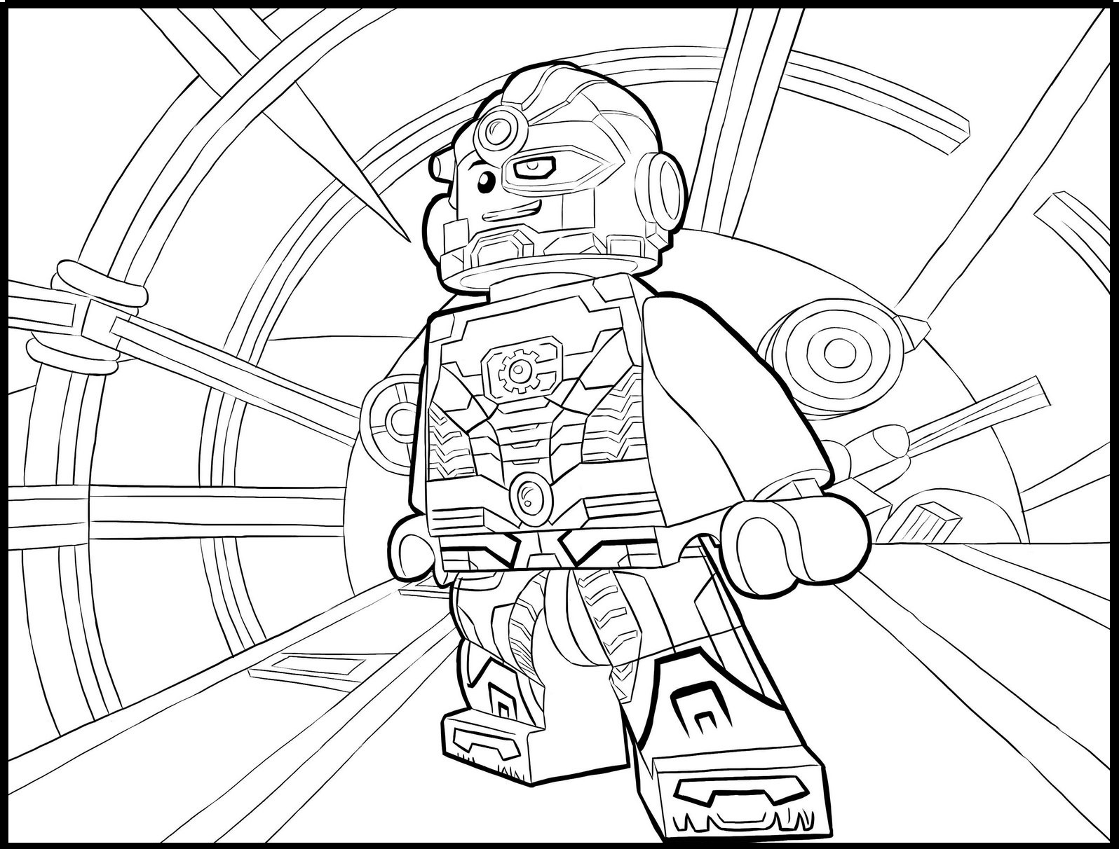 Lego Cyborg Coloring Sheet