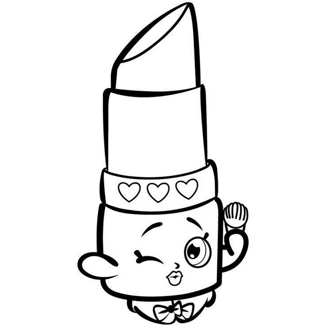 Lippy Lips Shopkins Coloring Pages