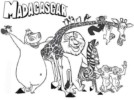 Madagascar Coloring and Activity Pages