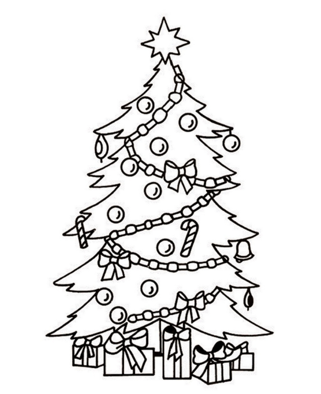 magical christmas tree coloring pages gift