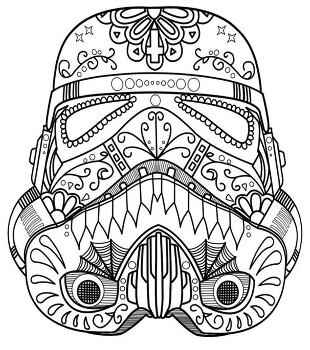 Mandala Star Wars Coloring Pages