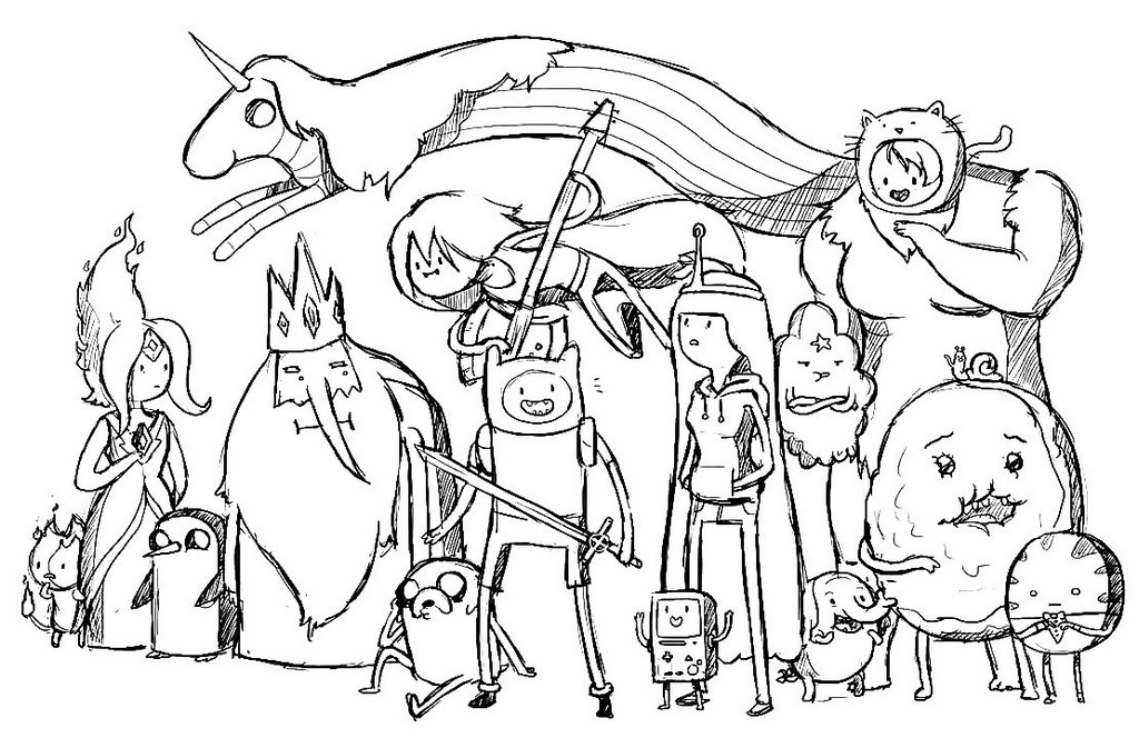 Printable Adventure Time Coloring Pages