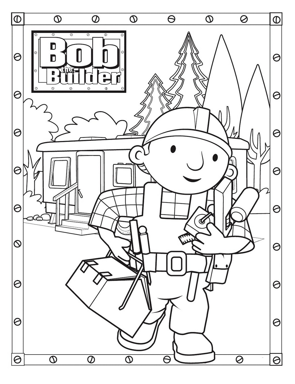 printable bob the builder coloring books
