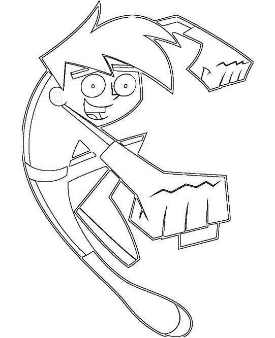 Printable danny phantom coloring pages for Danny phantom coloring pages
