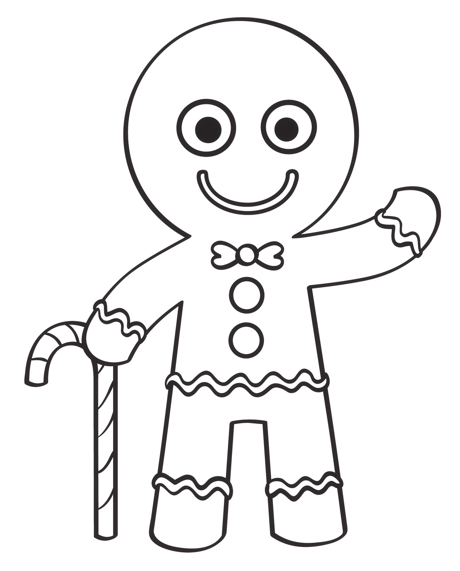 Printable Gingerbread Man Coloring Book Christmas Activities