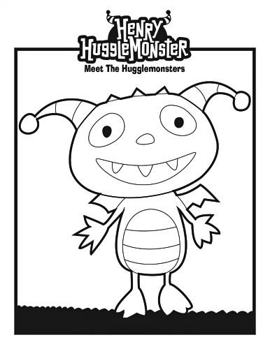 Printable Henry Hugglemonster Coloring Page